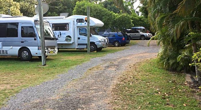 Our Cooktown Caravan Park campsite at Cooktownn Orchid Travellers Park