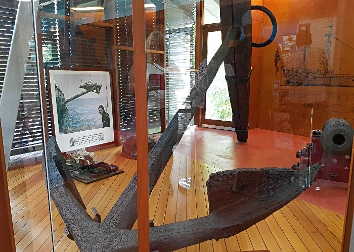 Anchor from the Endeavour retrieved from the Great Barrier Reef