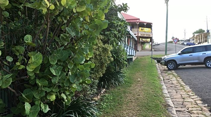 Side Entry to Cooktown Caravan Park right in the heart of town
