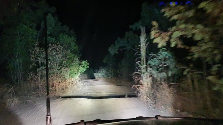 Driving tracks at night