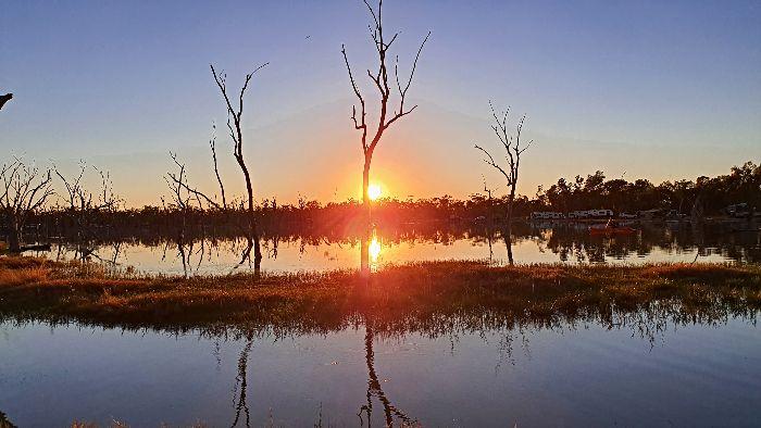 Lara Wetlands at sunrise