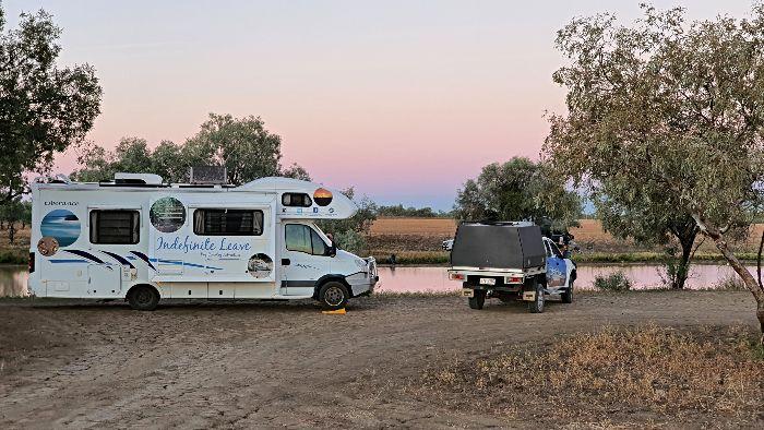 Brisbane to Darwin Free Camping at Winton