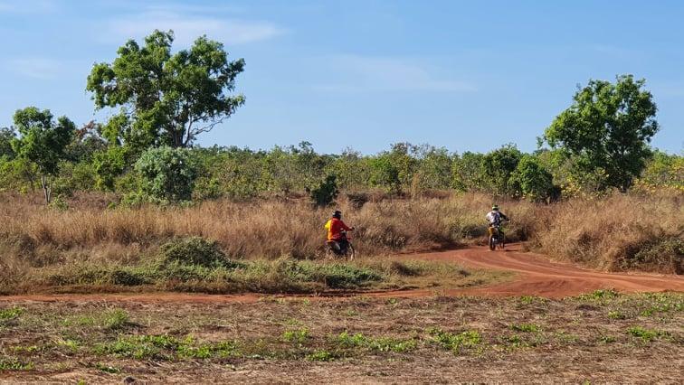 Motorbikes can be noisy at Gunn Point Darwin Camping area