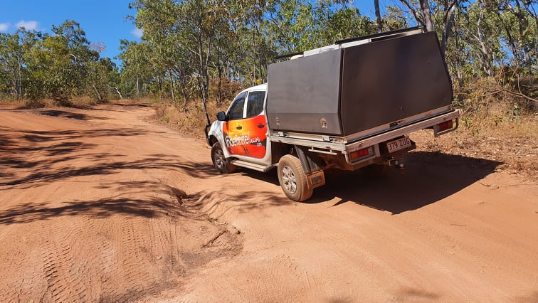 Rough Track in to the best Darwin Camping Area