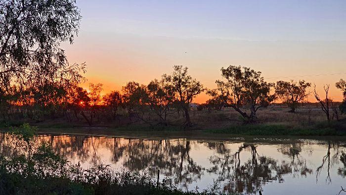 Thomson River at sunset
