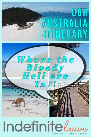 Our Australia Itinerary