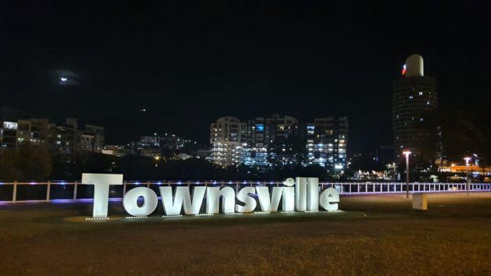 Illuminated Townsville sign