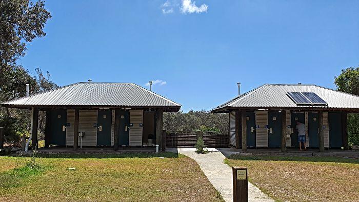 Moreton Island Camping - Blue Lagoon Campground Toilets
