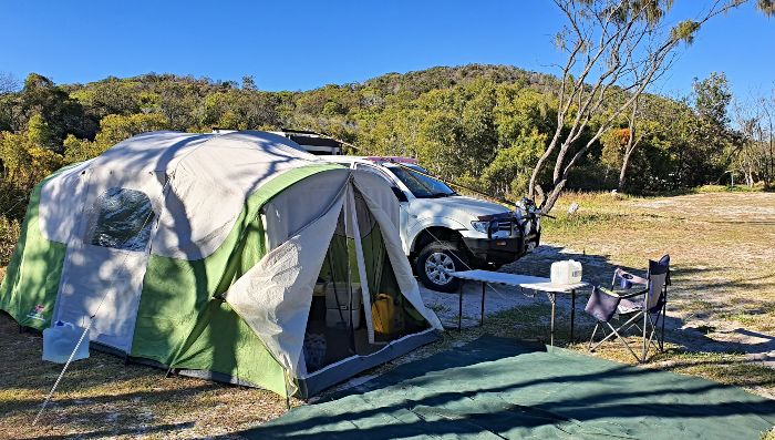 Moreton Island Camping Site Yellow Patch