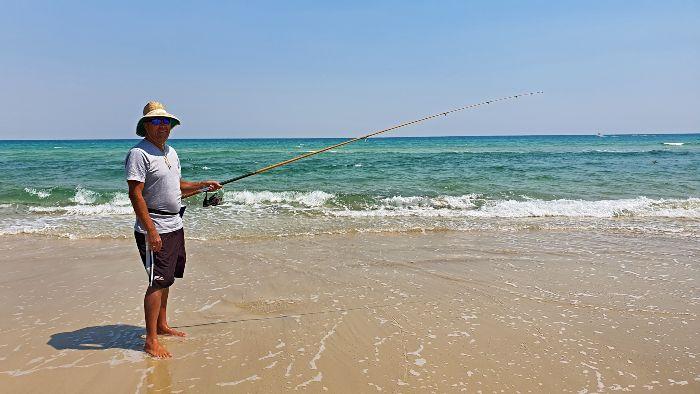 Kev Fishing Moreton Island