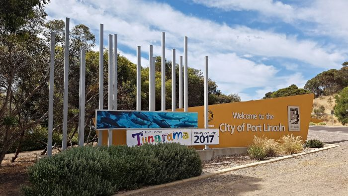 Welcome to Port Lincoln sign