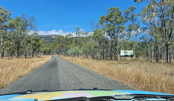 Road out to Blackdown Tablelands