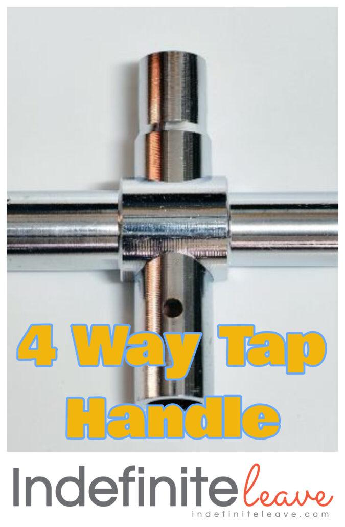 Pin - 4 way tap handle